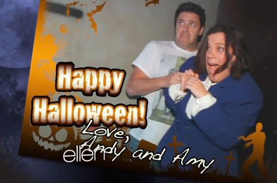 Ellen sends staffers to 'Walking Dead' haunted house Funny Funny video Check it out! Every Halloween Ellen sends Amy (one of her writers) to visit a haunted house. However, this year was a little more special... #PinIT #CommentONtheBLOGpost