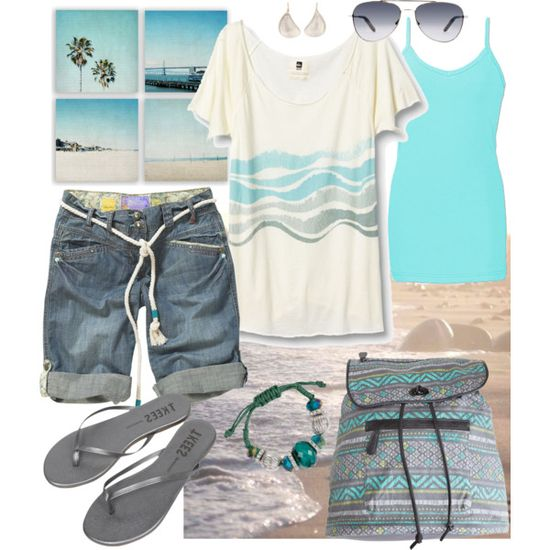 Casual Beach Bum, created by pamnken on Polyvore