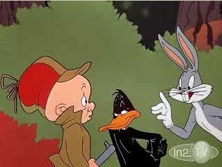 Elmer Fudd, Daffy Duck and Bugs Bunny