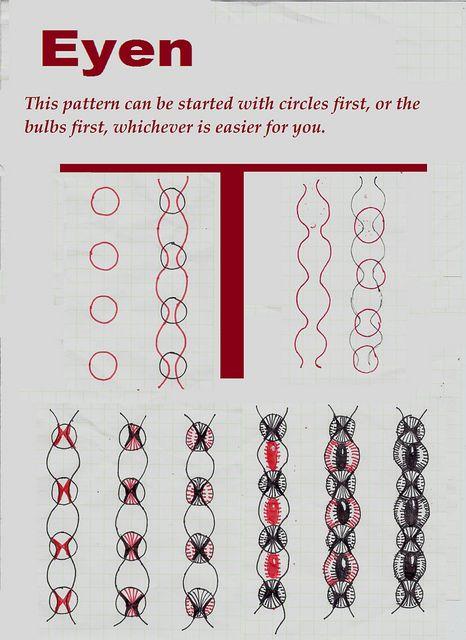Eyen-Tangle Pattern