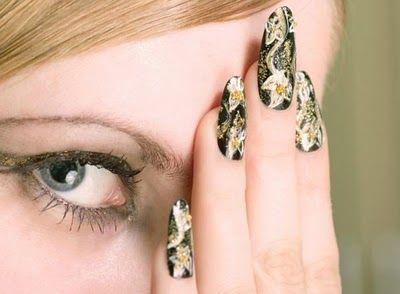 ail inspiration, nail glamour, nail style, Creative nail designs,