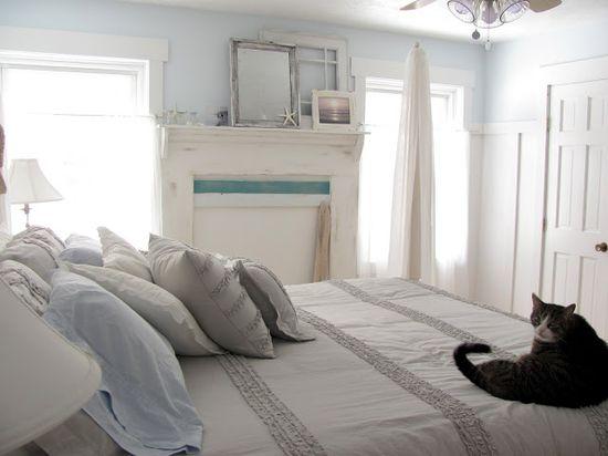{Interior Design} Beachy Blue Bedroom