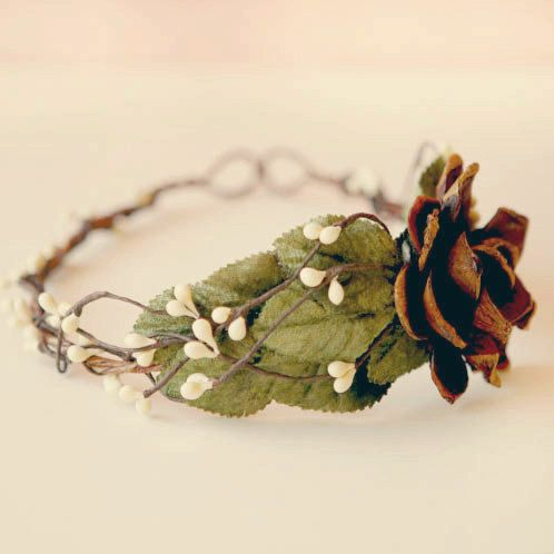woodland hair crown 'windswept' by whichgoose on Etsy, $65.00