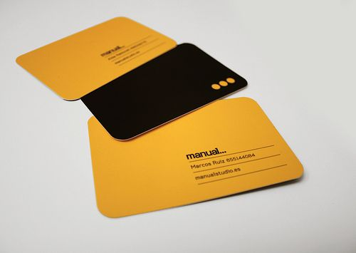 manual studio business card by MARIN DSGN