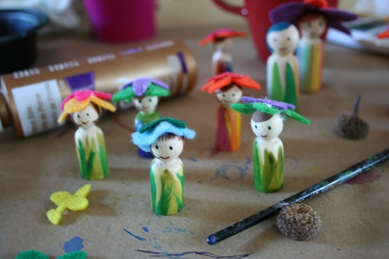 spring peg dolls