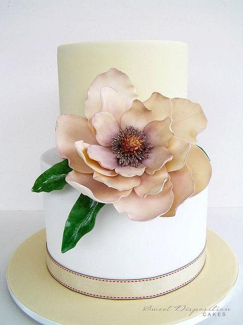 Exquisite sugar flower cake