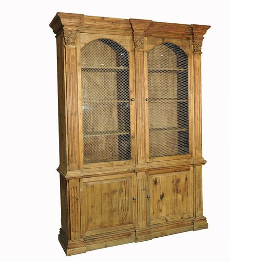 Mills Pine Glass Cabinet