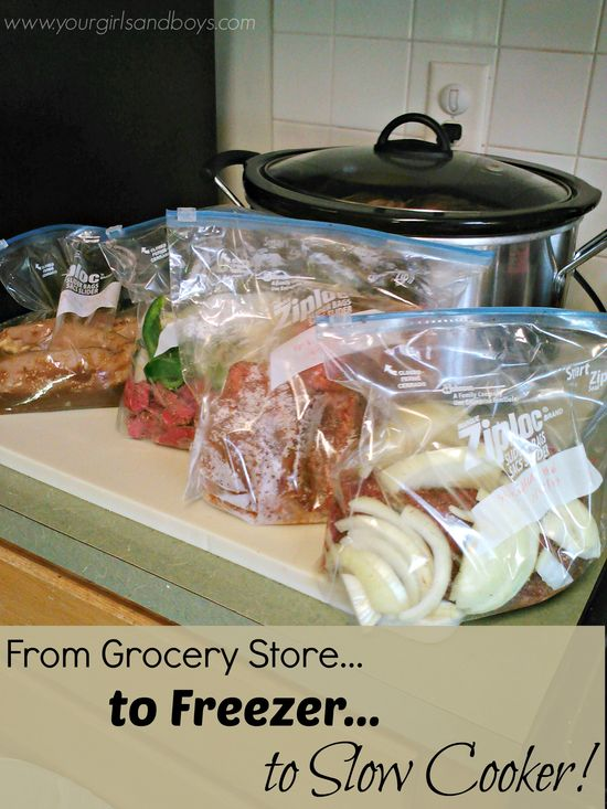 Freezer to Slow Cooker Cooking