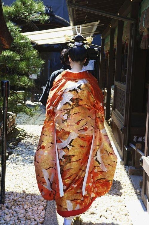 Japanese bride's kimono