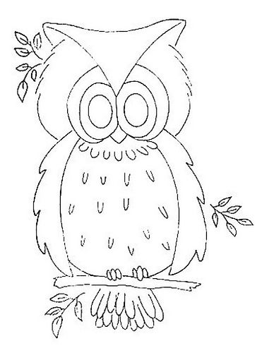 Vintage Owl Embroidery Pattern