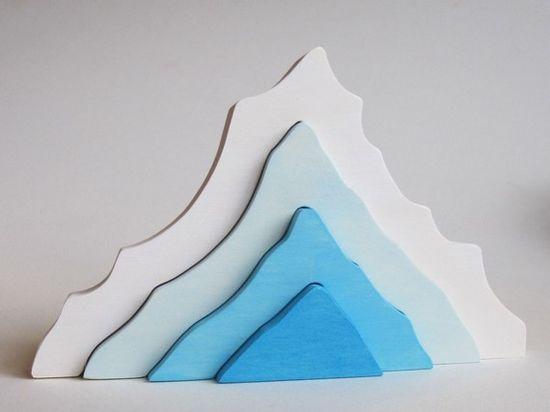 Iceberg wooden toy