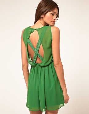 Loving this lace cross back dress