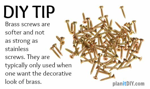 DIY TIP: Brass screws