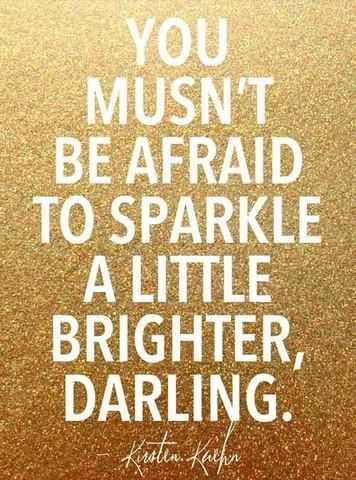 You musn't be afraid to sparkle a little brighter, darling. #PANDORAloves
