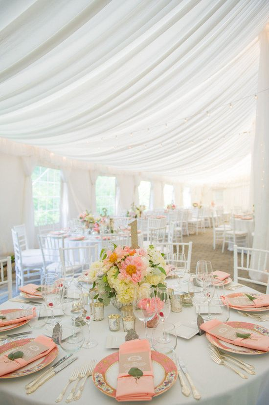 Gorgeous tent and draping