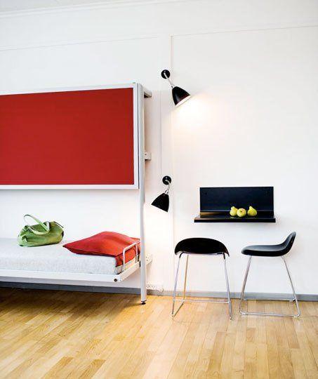 Tiny Bedroom Office Ideas from Hotels