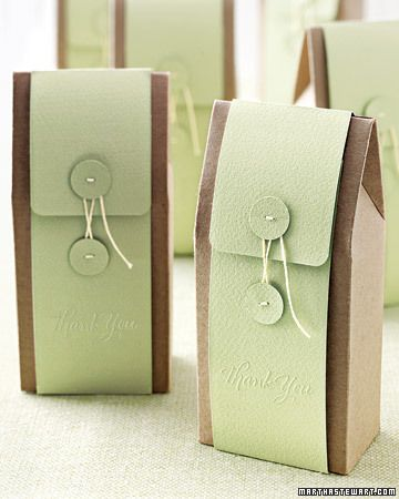 cute party favor.  would make great wedding favors.  The words thank you are embossed on the lower front