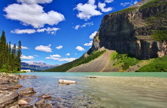 Lake Louise in the Canadian Rockies - Mountain Shores by Jim Boud, via Flickr