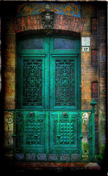I love this door. And the tone of the whole photograph, what's behind you, huge door?