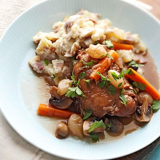 Coq au Vin -- A French classic with a slow cooker spin! More of the season's best slow cooker recipes: www.bhg.com/...