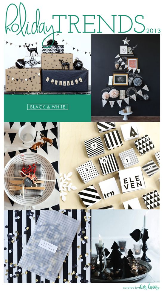 holiday trends 2013: black & white
