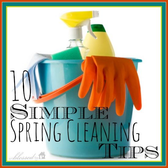 Love this post on Spring Cleaning Tips from I Heart Nap Time!