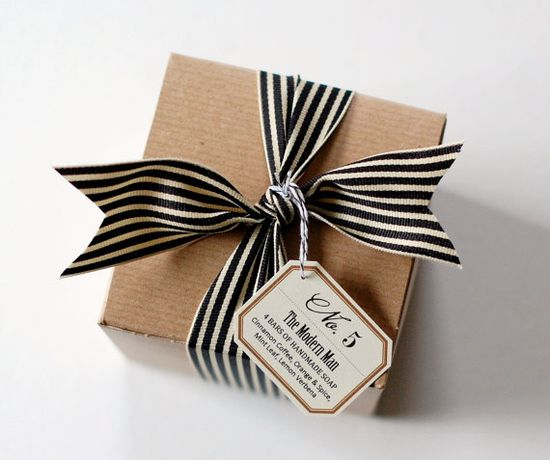 """No. 5 - """"The Modern Man"""" - Father's Day Gift Set - Natural Handmade Soap Gift Box for Guys"""