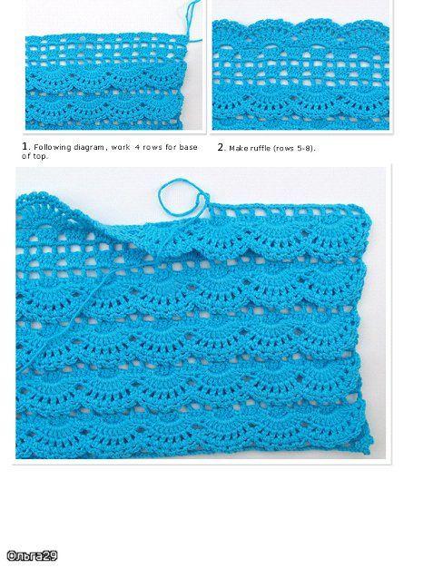 Gorgeous ruffle stitch pattern.