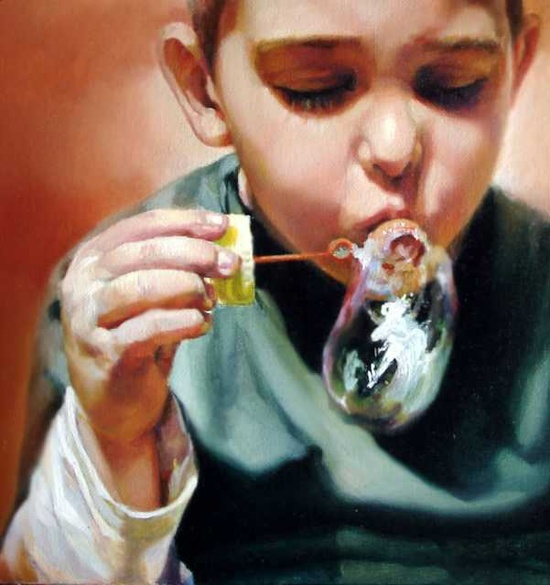 "Saatchi Online Artist: Anca Danila; Oil, Painting ""anamnesis"""