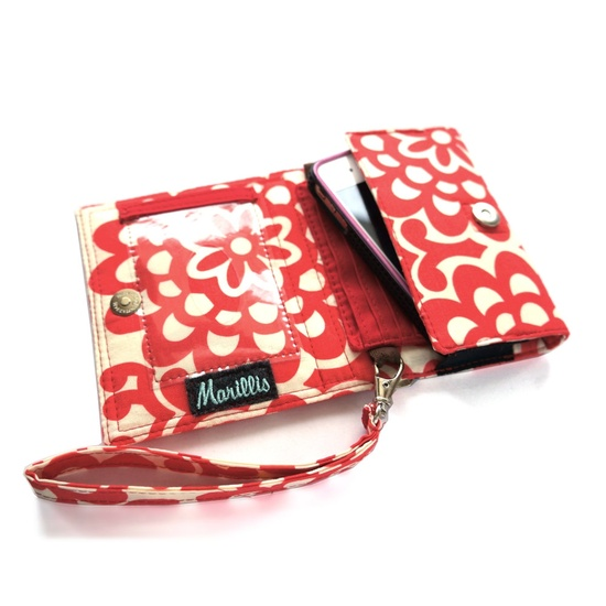 Gorgeous wristlets for all of your essentials!   iPhone Wallet - smart phone case Handmade - Cherry Wallflower. $35.00, via Etsy.