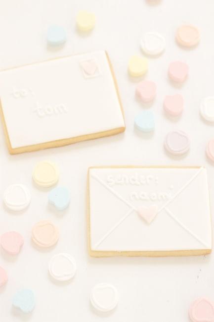 valentine love letter cookies