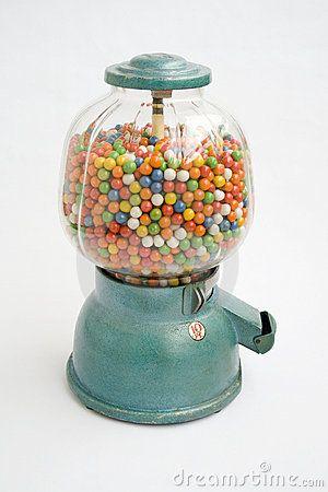 Vintage 1950s gumball machine.