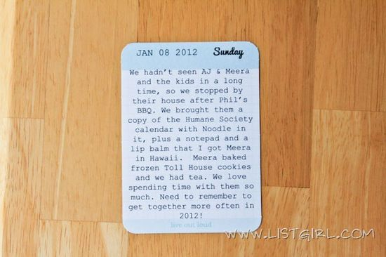 How to print on project life 3x4 cards
