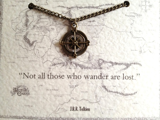 Tolkien Quote Necklace Not all those who by LiteraryEmporium