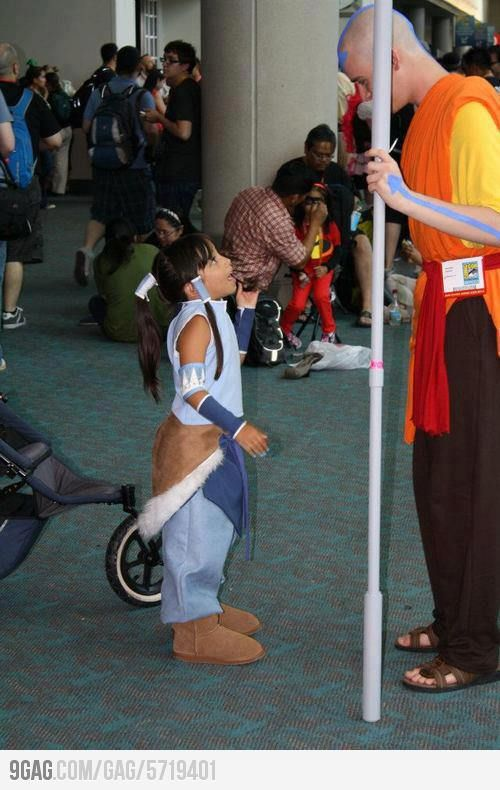 Best meeting #avatar #a:tla #korra #Legend_of_korra #airbender #cosplay