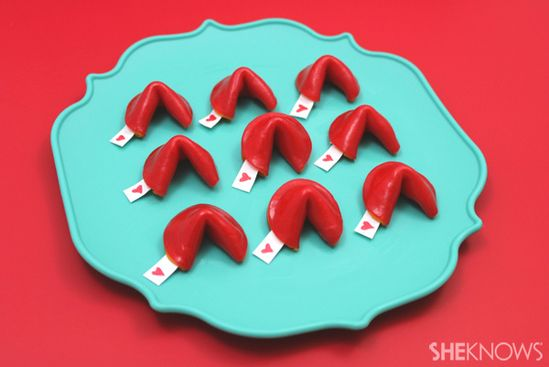 Fruit roll up fortune cookies ...such a cute idea!