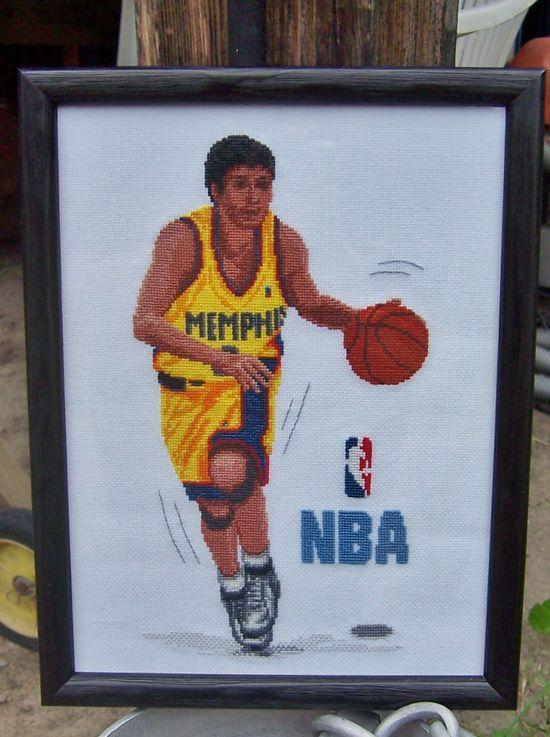 le basketteur : finition