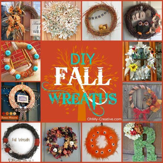 Do It Yourself Fall Wreaths To Make - OhMy-Creative.com