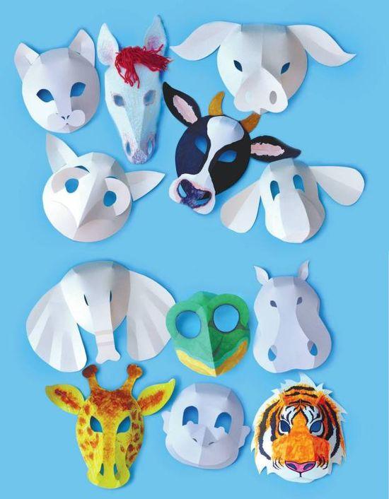 Roylco Wild Animal Masks - Pack of 30