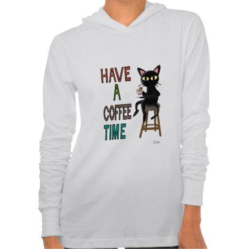 Coffee Time Jersey Hoodie by BATKEI  #zazzle #coffee #hoodie