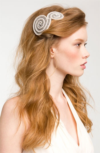 Cara Accessories 'Swirl' Hair Comb available at #Nordstrom #wedding $58