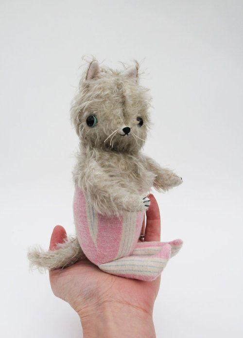 gray pajama cat by foxandowl on etsy