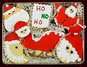 Ho Ho Ho Decorated Cookies Gift Tin