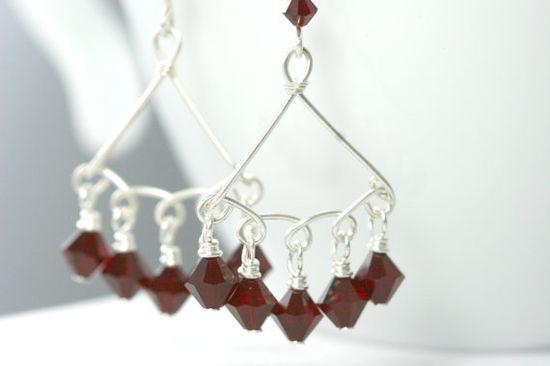 Swarovski Chandelier Earrings Wire Wrapped by JessicaLuuJewelry, $35.00