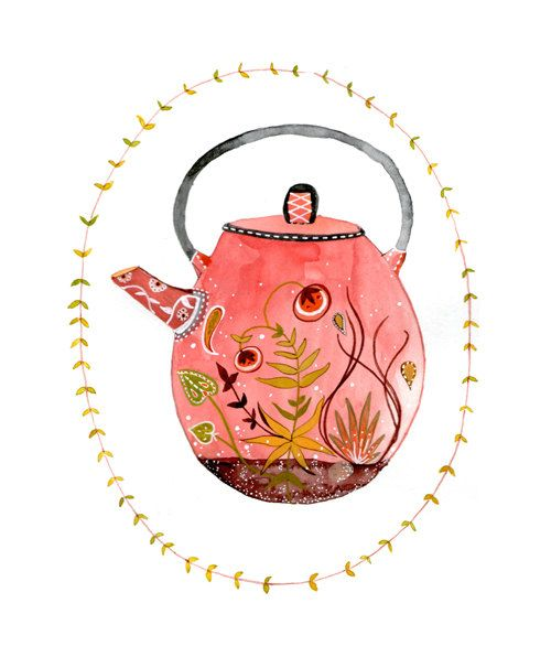 teapot terrarium 5x7 archival print by yaymeeralee on Etsy, $15.00