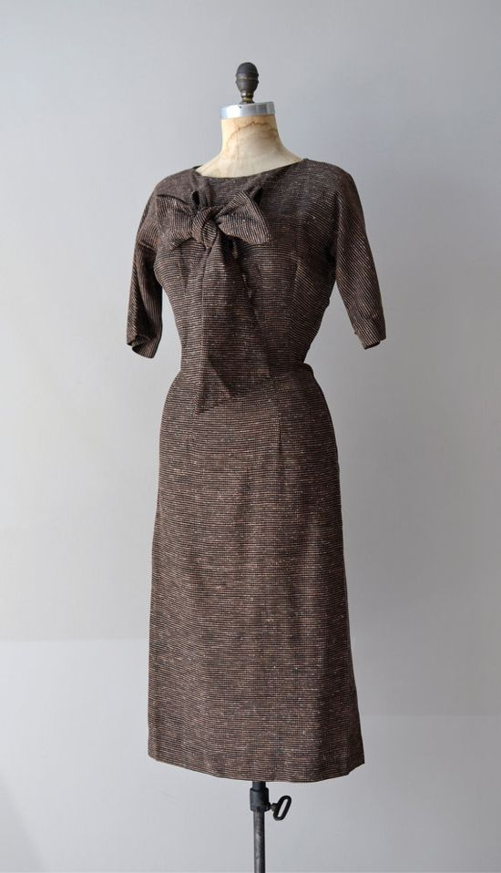 vintage 1950s Guinness woven dress     #1950s #vintage #vintagedress