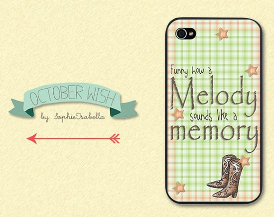 Funny How a Melody iPhone 4/4S/5 Case on Etsy, $17.31