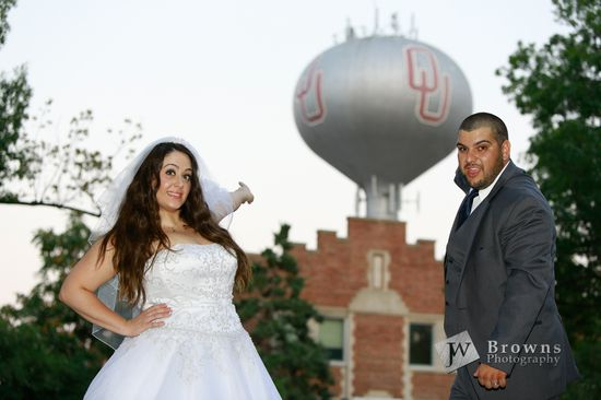 Wedding photos on campus!