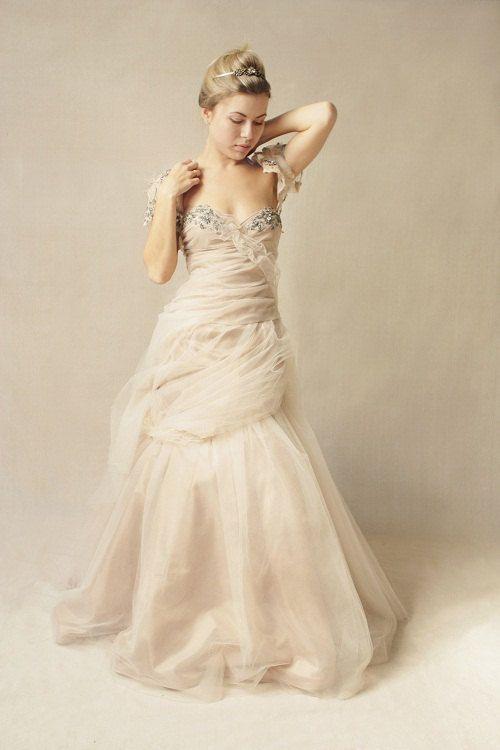 SANDY B. strapless wedding gown/ dress with bolero by upoppy