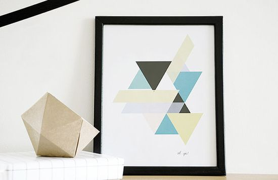 Geometric Pastel Print by OYgoods on Etsy, $15.00